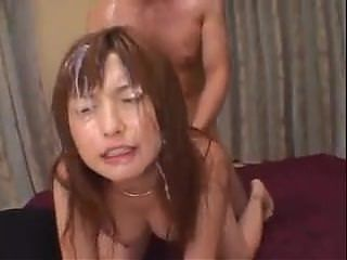 Japanese girl fucked and bukkake